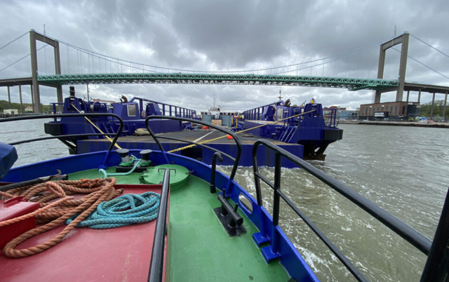 Asterix roro-fartyg roro Sandinge bogsering bogserbåt barge