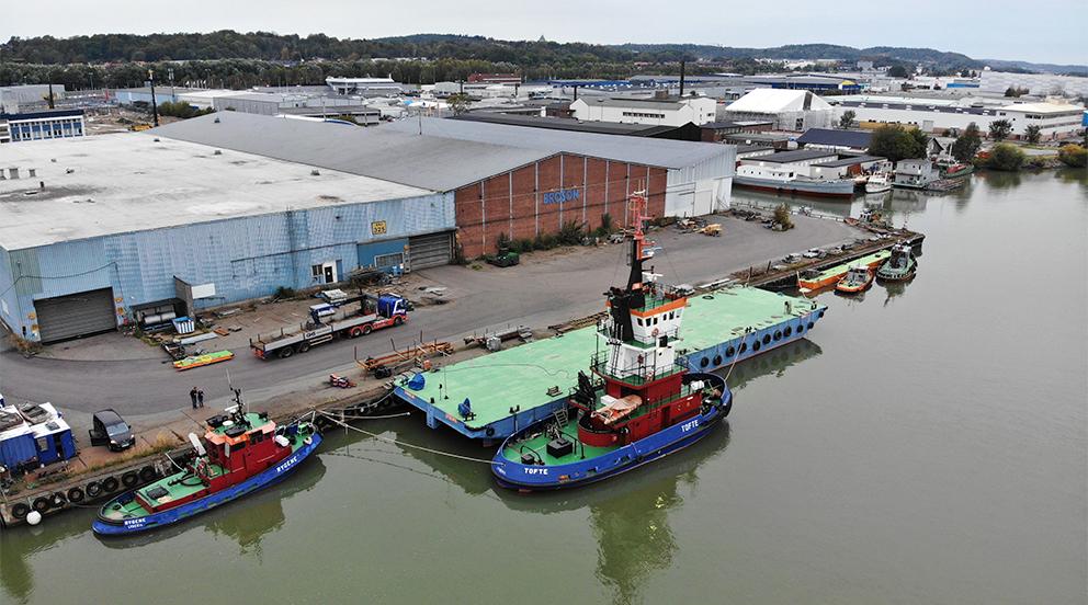 Bogserbåt pråm Göteborg